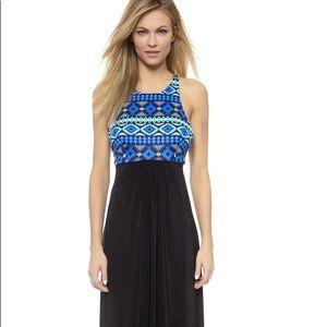 NWT T-Bags Los Angeles Low Back Maxi Dress Black
